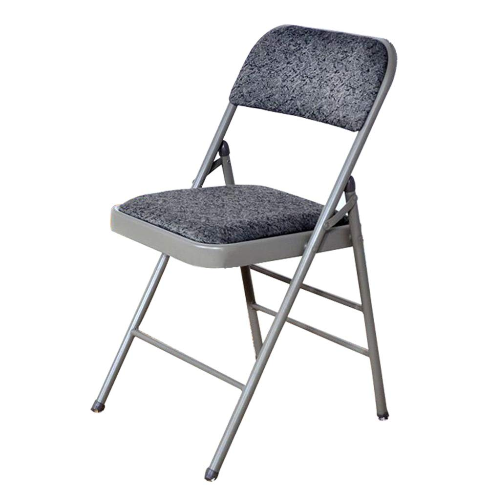 Cloth ZAHOYONGLI Chairs,Folding Chairs Folding Bar Stool Breakfast High Chair Metal Frame Home Office Kitchen Studio Furniture (color   3022-1 Thickening)