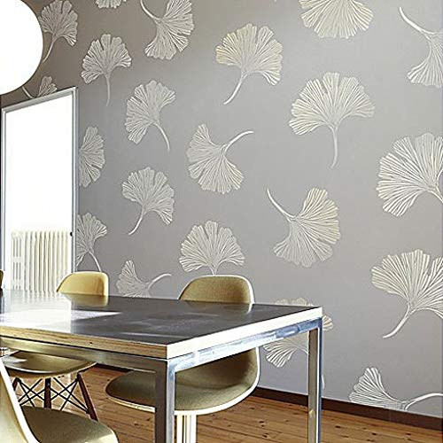 Chinese Ginkgo Wall Stencil - DIY Floral Pattern - Reusable Stencils for Room Makeovers (Large)