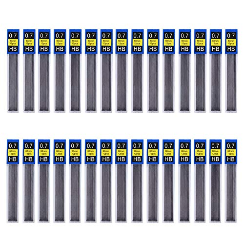 (Uspeedy 360 Pieces HB Black Lead Refills Mechanical Pencil Lead,12 Pieces Per Tube, 30)