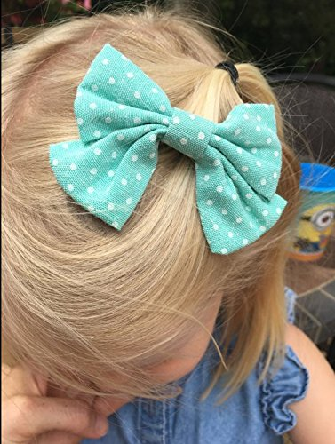 Oaoleer 10pcs 3.5'' Fabric Ribbon Hair Bows with Clips for Baby Toddler Girls Teens by Oaoleer (Image #5)