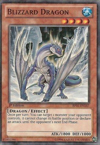 Yu-Gi-Oh! - Blizzard Dragon (BP01-EN147) - Battle Pack: Epic Dawn - 1st Edition - Starfoil Rare