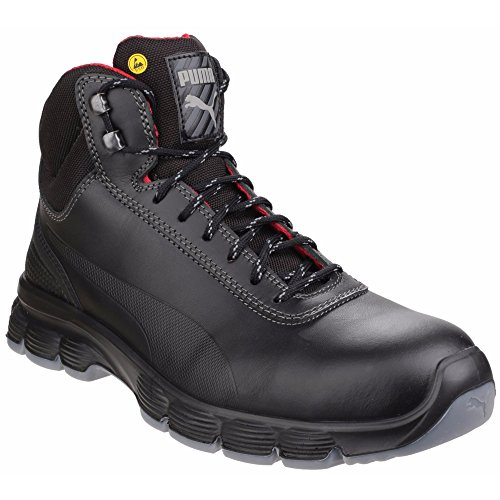 Puma Safety Footwear Mens Pioneer Mid Laceup Steel Toe S3 Safety Boots Black