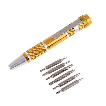 Precisión destornillador Set 7 en 1 Pequeño Mini Hobby Craft joyero ...