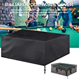 Exuberanter 7/8/9 Ft Pool Table Cover, Outdoor Waterproof Billiard Table Cover, 210D Oxford Cloth Full Protection Pool Table Cover With Drawstring For Snooker Table