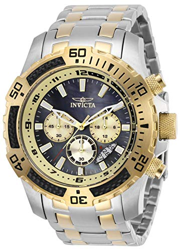 Invicta 29288 Speedway Chronograph Quartz Movement Men's Watch with Blue Analog Dial and Two Tone Stainless Steel Silver and Gold Bracelet with Silver -