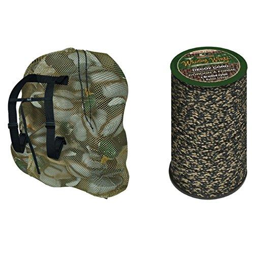 Braided Decoy (Mossy Oak Whistling Wings Decoy Bag and 200' Whistling Wings Braided Nylon Decoy Cord Bundle)