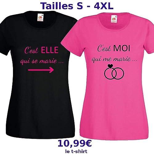 T,shirt EVJF pas cher pour la future mariée et ses invitées ! Tailles S à  4XL