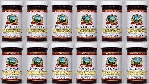 Naturessunshine Wild Yam Glandular System Support 375 mg 100 Capsules (Pack of 12) by Nature's Sunshine