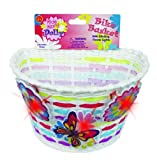 Bike Basket with Lightups - Kid's Bicycle Basket with Three Motion...