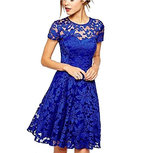 Buy belted floral lace dress - 8