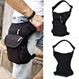 CAMTOA New Canvas Sports Racing Drop Leg Bag /Waist Bag /Fanny Pack for Man Woman Motorcycle Cycling Workout Vacation Hiking