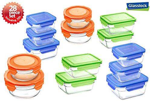 Snaplock Lid Tempered Glasslock Storage Containers 28pc set