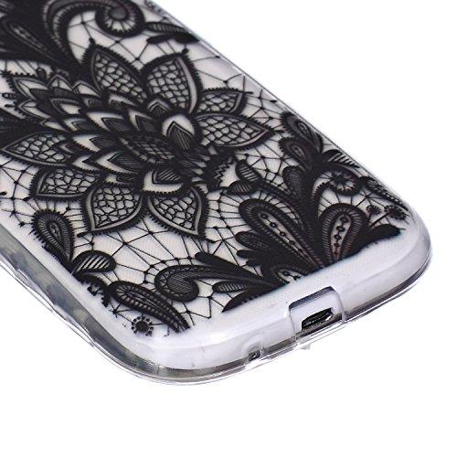 Carcasa para Galaxy Note 3, Galaxy Note 3 Soft Gel TPU Funda Silicona Carcasa, Galaxy Note 3 Funda Carcasa protectora, Galaxy Note 3 Silicone Case Cover Skin, Ukayfe Cubierta de la caja Funda protecto negro Rose