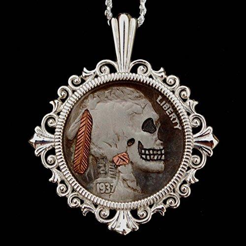 buffalo head nickel necklace - 7
