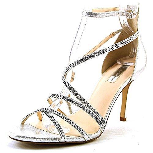 INC International Concepts Women's Gemm2 Ankle Strap, Pearl Silver, Size 8.5 (Guess Men Dress Shoes)