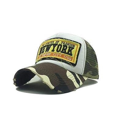 XibeiTrade Gorra de béisbol de Malla Vintage de Nueva York para ...
