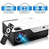 Wsky 1080P Projector, Native HD 4000Lux Home Theater- Support 1080P 1920×1080 Resolution with USB/HDMI/SD/AV Ports Ideal for Watching Movies Home Entertainment Gift Giving