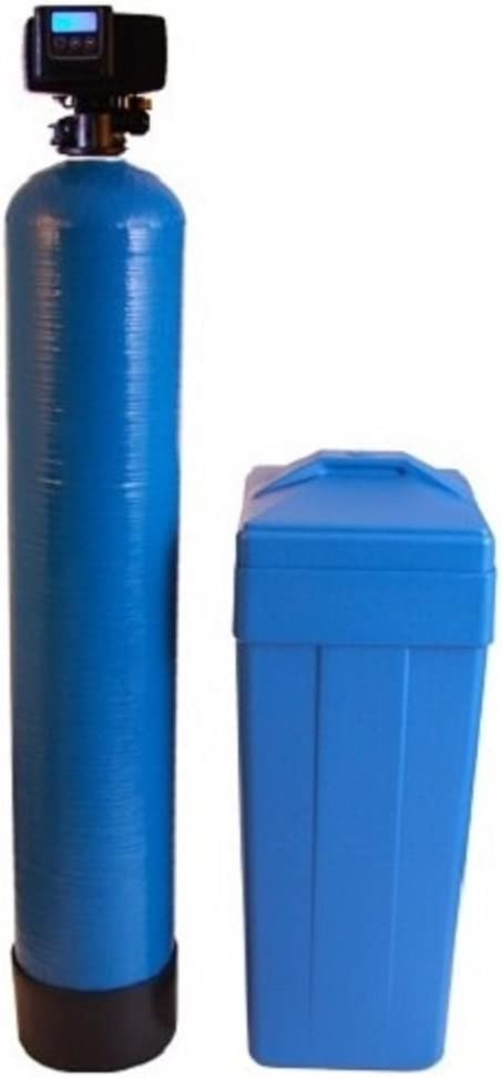 Fleck 5600 SXT Water Softener Ships Loaded With Resin In Tank For Easy Installation (48,000 Grains, Blue)
