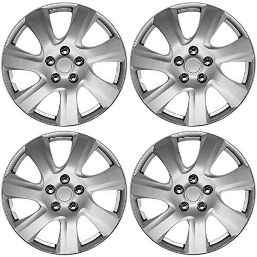17 inch silver and black hubcaps - 4