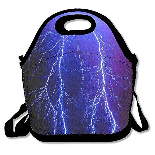 Blue Stripe Rambler Backpack (Blue Flashing Lighting Portable Cooler Bag Lunch Picnic Tote Waterproof Bag For Women,Men, Adults, Kids Outdoor Travel)