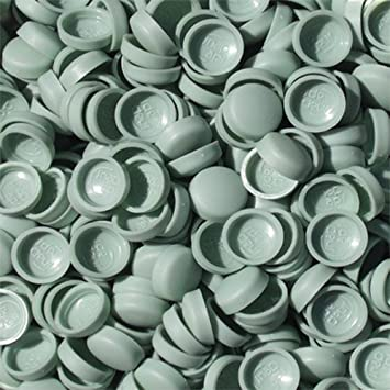 50 x LARGE STONE BEIGETWO PIECE DOME SCREW CAP COVERS SNAP CAPS PRO-DEC FIXINGS