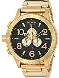 Nixon Men's '51-30 Chrono' Quartz Stainless Steel Casual Watch, Color:Gold-Toned (Model: A083510)