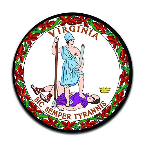 More Shiz Virginia State Seal (2 Pack) Vinyl Decal Sticker - Car Truck Van SUV Window Wall Cup Laptop - Two 5 Inch Decals - - Virginia Seal