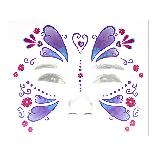 Willsa Halloween Temporary Face Art Waterproof Mask Sugar Skull Tattoo Beauty Sticker for $<!--$0.64-->