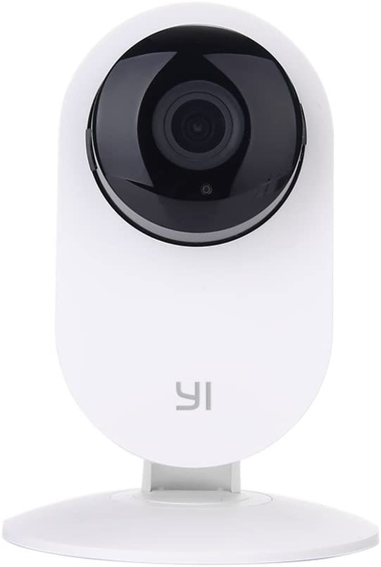 YI Home Camera, Wi-Fi IP Indoor Security System with Motion Detection, Night Vision for Baby / Pet / Front Porch Monitor, Remote Control with iOS, Android, PC App - Cloud Service Available (White)