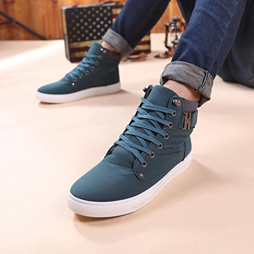 High Mens Oxfords Lightweight Casual Shoes wuayi Top Ankle Fashion Shoes Sneakers Walking Green ITHnIpw