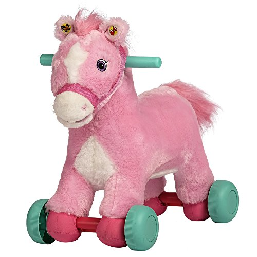 - Rockin' Rider Precious Rolling Pony Plush, Pink