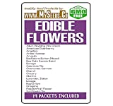 EDIBLE FLOWERS Seeds Kit with 19 Varieties - Culinary Flowers from Seeds. Decoration for Cakes, Cupcakes, Soups & Salads - Non-GMO Seeds By MySeeds.Co (Edible Flowers Kit)