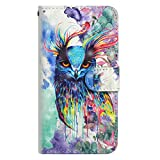 Yourfairy Nokia 6.1 Case,Nokia 6 2018 Case, [Kickstand Feature] 3D Colorful Flip Folio Leather Wallet Case with ID and Credit Card Pockets for Nokia 6.1/Nokia 6 (2018) Version 5.5 Inch