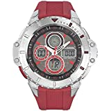 All Blacks - 680229 - Montre Homme - Quartz Digital - Cadran Noir - Bracelet Plastique Rouge