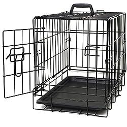 """Paws & Pals 20"""" Wire Metal Cage Pet Cat/Dog Single Door Kennel Crate, 20_ Single-Door - NO Divider"""