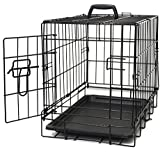 "Oxgord 20"" Wire Metal Cage Pet Cat/Dog Single Door Kennel Crate, 20"" by 13"" by 16"""