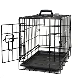 Paws & Pals 20' Wire Metal Cage Pet Cat/Dog Single Door Kennel Crate, 20_ Single-Door - NO Divider