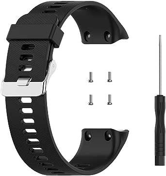 KKPLZZ Bandjes Compatibel met Garmin Forerunner 35/35J/Swim 2 Strap, Sport Siliconen Polsband Arm Band Vervanging Armband voor Forerunner 35/35J Smartwatch
