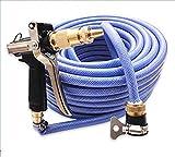ZLJTYN 15 Meters 20 Meters High Pressure Household Car Wash Machine Water Hose Brush Car Car Tools,30 Meters