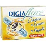 SuperDiet Digiaflore Charbon + Levure 45 gélules 14.5g