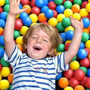 Infantastic Pelotas para niños, Piscina de Bolas Multicolores, 5 Colores, diámetro Aprox. 5,5 cm (100 Bolas)