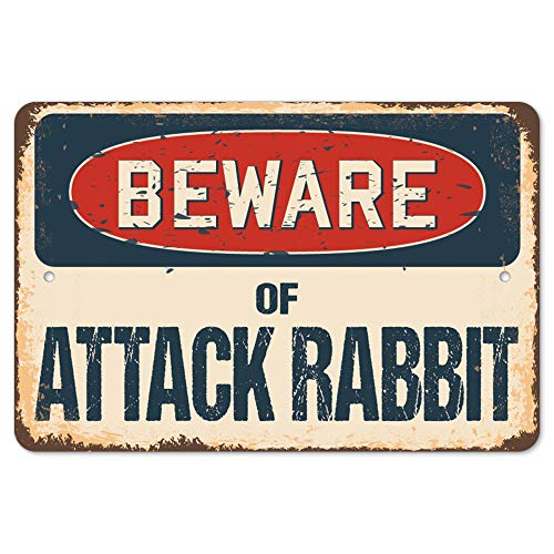 Beware of Attack Rabbit Rustic Sign | Rustic, Distressed, used for sale  Delivered anywhere in USA