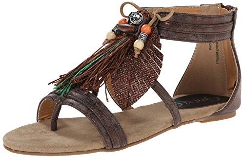 Grazie Women's Searing Dress Sandal, Bronze, 7.5 B US