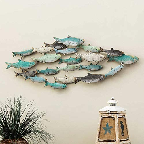 Bella Coastal Decor Distressed School of Fish Wall Art