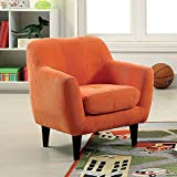 Furniture of America CM6003OR Greta Orange Kids Chair Accent Tables, 28.5'' H