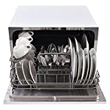 the portable dishwasher provides all the convenience of a fullsize dishwasher for cleaning your dishes it features enough space to accommodate six