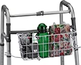 Basket for Folding Walkers - with Liner - Basket Color is Black - Fits Nova Medical Models 4080/4090 Series