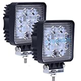 STANSEN 2pcs 27W Square Waterproof LED Working Light 9LED SUV Offroad Work LightBoat Headlight Flood Driving Fog