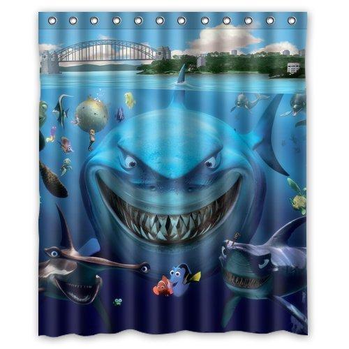 Happy Undersea World Finding Nemo Custom Unique Waterproof Shower Curtain Bathroom Curtains 60x72 inches