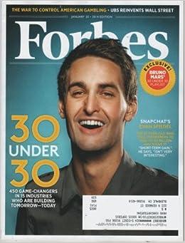 Forbes Magazine January 20 2014 Evan Spiegel Cover Amazon Com Books